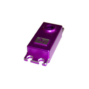 purple aluminum billet servo cap